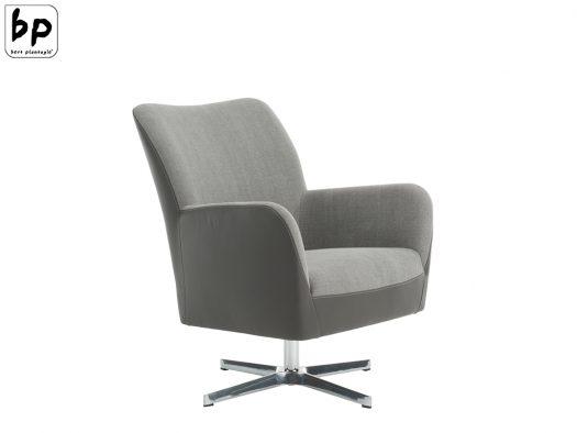 fauteuil in stof en leer bertplantagie bolero merk design