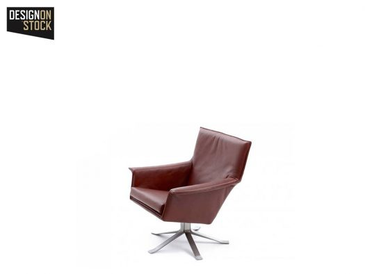 fauteuil djenne in leer designstoel de ruijtermeubel