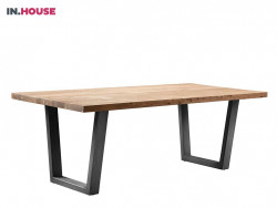 eettafel charly hout metaal wonen serie meubelzaak winkel cruquius deruijtermeubel inhouse