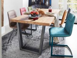 eettafel charly metaal hout inspiratie wonen voorbeeld tafel inhouse