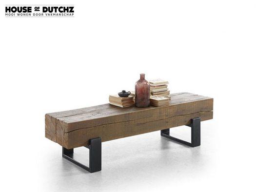 salontafel dutchz 1400 hout metaal industrieel deruijtermeubel
