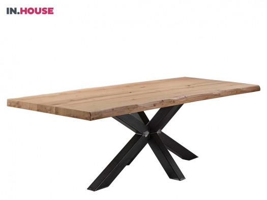 tafel gardo inhouse metaal hout industrieel deruijtermeubel.