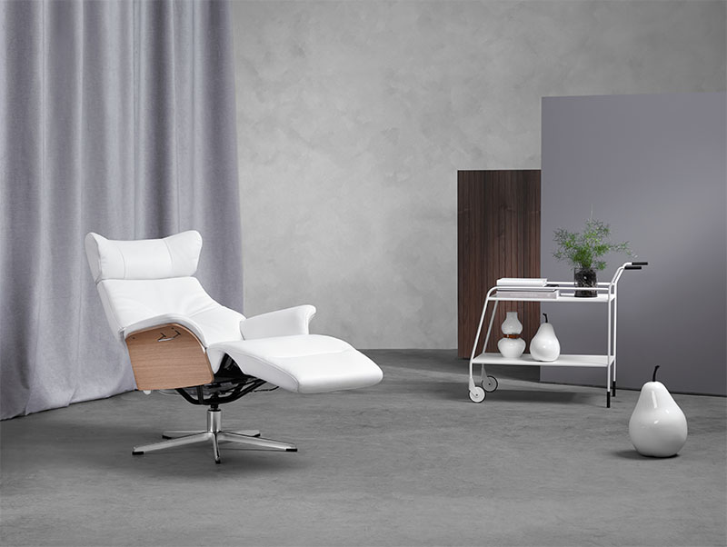 witte relaxfauteuil