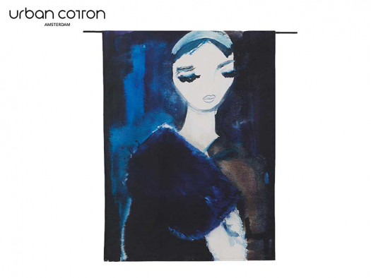 wandkleed lady in blue te koop cruquius deruijtermeubel kunstwerken