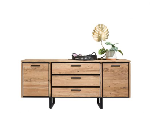 dressoir 2 deuren 3 laden tokyo hout