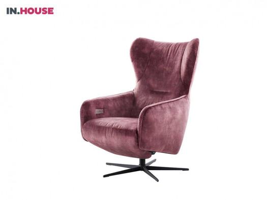 fauteuil sinta in stof rood deruijtermeubel relax