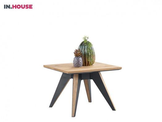 bijzettafel pento in eiken fineer inhouse meubels deruijtermeubel wonen noord holland.