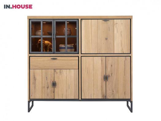 opbergkast pento in eiken fineer inhouse meubels deruijtermeubel wonen noord holland