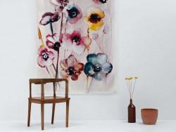 inspiratie voorbeeld doeken aan de muur flowers in soft hues pastel