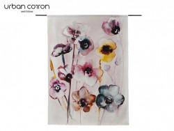 wandkleed flowers in soft hues urban cotton kunst doeken muur