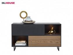 dressoir verdo wonen woonserie zwart hout modern meubels