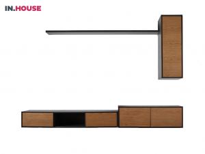 hangkast verdo wonen woonserie zwart hout modern meubels