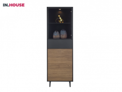 vitrinekast verdo wonen woonserie zwart hout modern meubels