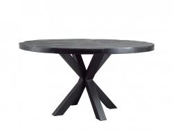 ronde tafel mandoly deruijtermeubel cruquius zwart hout mango